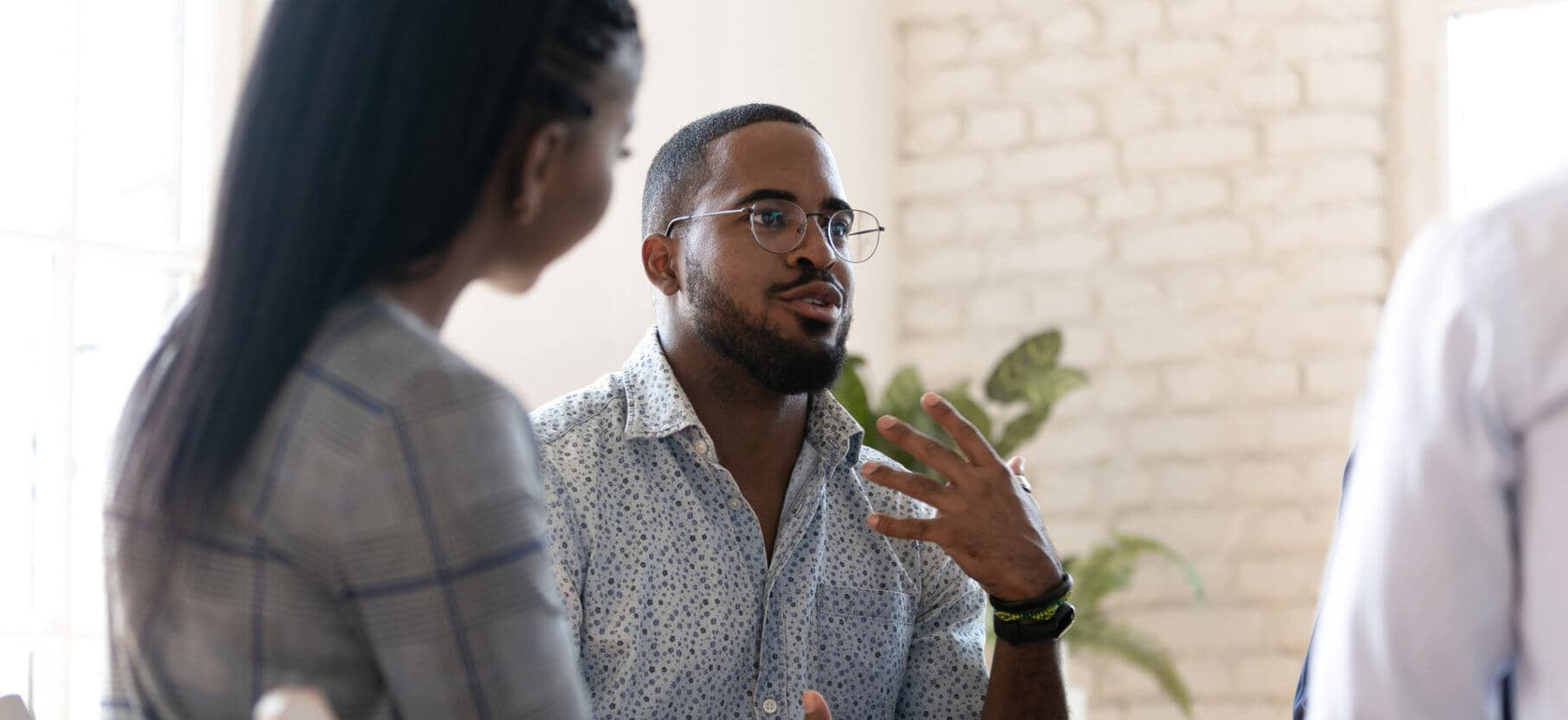african american man speak at group therapy session